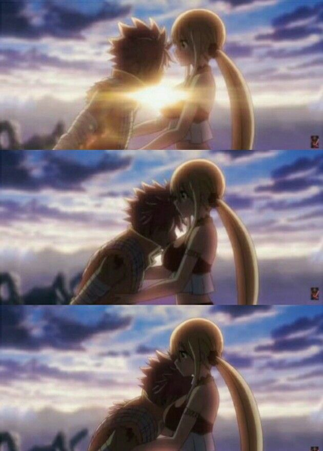 NaLu moment in the movie Dragon Cry / #anime