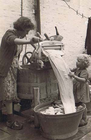 I remember helping my grandmother with the wringer washer.