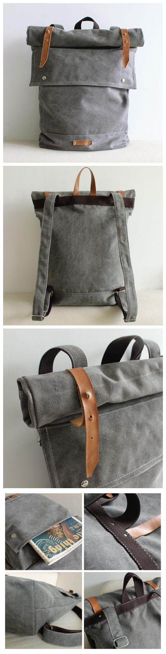 Waxed Canvas Backpack Waterproof Travel Backpack School Backpack