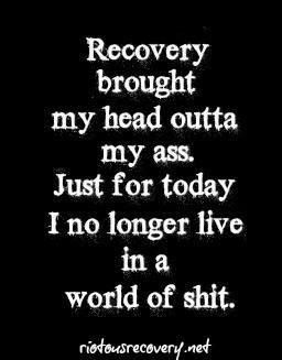 Recovery sober. Well put.