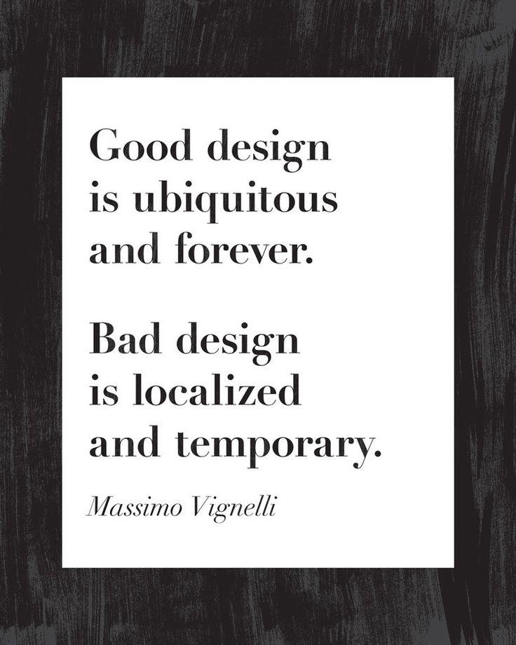 A beautiful statement about design.