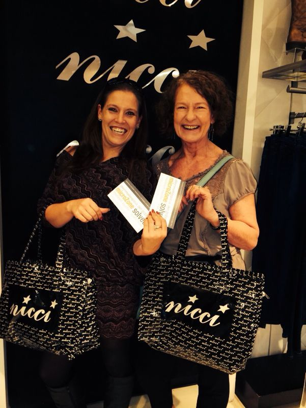Happy Cape Town #Nicci customers with their goodie bag including #Dermalogica treats and vouchers