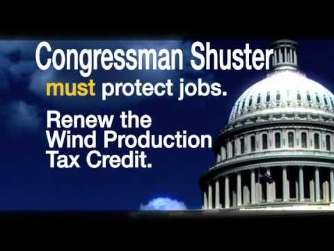 """Save Wind Industry Jobs"" targets Rep. Bill Shuster, R-Penn. 7/31/12"