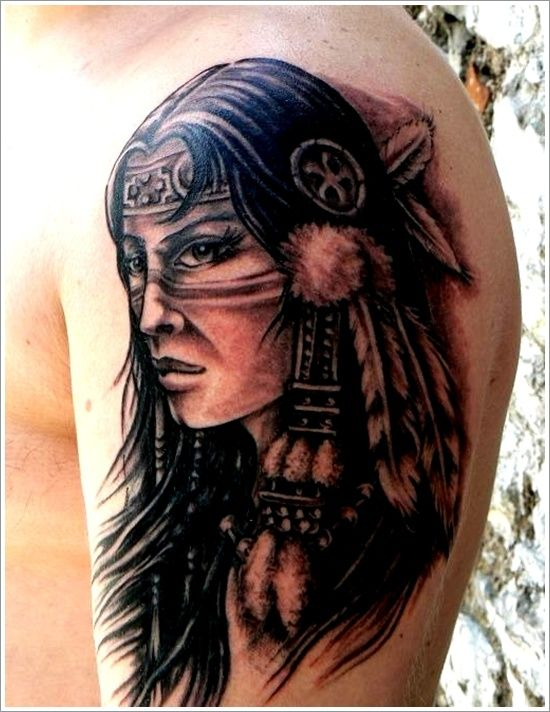 Indian girl ♥40 Native American Tattoo Designs for Men and Women