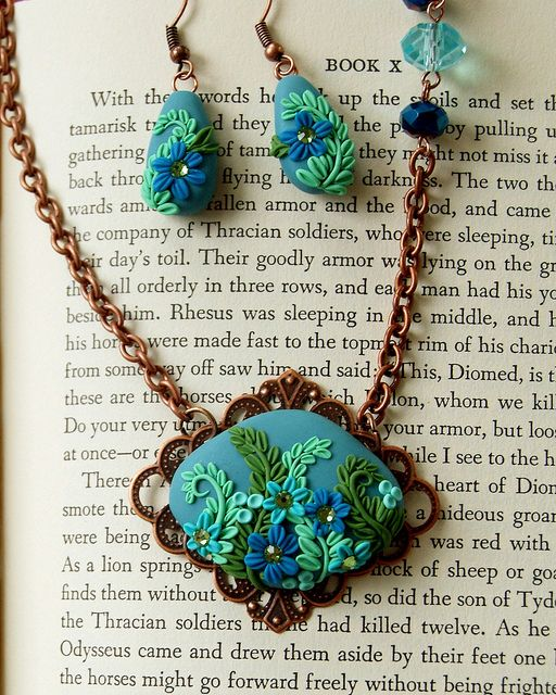 polymer clay embroidery
