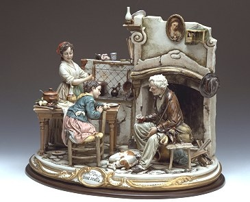 Capodimonte Italian Finest Quality Flowers and Figurines THE DETAIL IS PHENOMENAL: