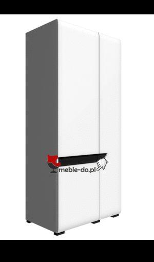 BRYZA SZAFA BRS-2C RESTOL Szafa z 2 drzwiami. Szafa stworzona do sypialni lub pokoju młodzieżowego. Dostępna w śnieżnobiałym kolorze, bez uchwytowa. Wykonana przez sprawdzonego producenta mebli firmę Restol, w ramach sytemu meblowego Bryza. Mebel posiada front wykonany z płyty MDF na wysoki połysk oraz matowy korpus.