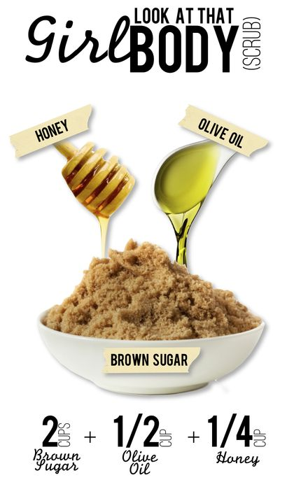 To create the scrub, just mix together half a cup of coarse brown sugar with a tablespoon of honey, a little olive oil, and 1/4 tablespoon of fresh lemon juice, then apply all over your body and rinse. The scrub not only smells delicious, but leaves your skin feeling ultra-smooth.