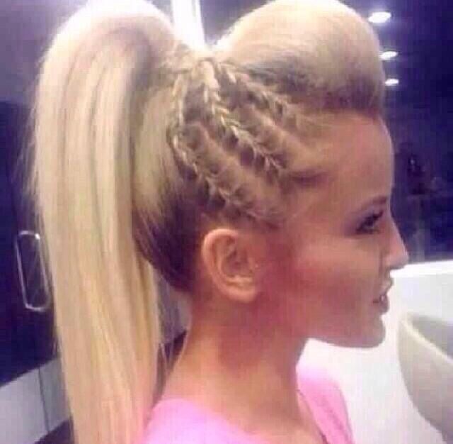 French Braid With Poof Cheerleading Pretty Braided