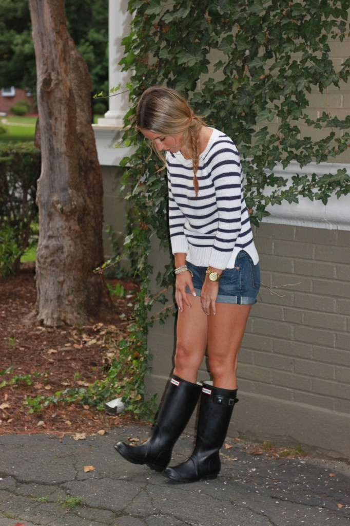 Hunter Boots and stripes
