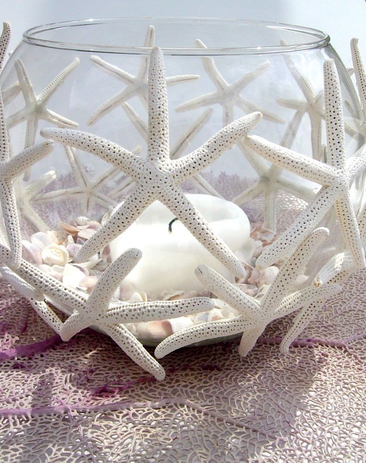 Dancing Sea Star Beach Candle Centerpiece  / bull di vetro stile marino #wedding #beachwedding #matrimoniomare #matrimonio #spiaggia #candelabro #portacandele #romasposa