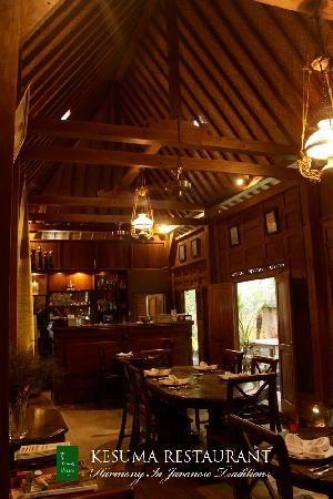 Kesuma Restaurant. Traditional interior, excellent taste.  Jalan Sartono, | 827 / Mantrijeron 3, Yogyakarta 55143, Indonesia   0274 824 5027