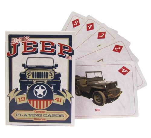 All Things Jeep - Jeep Deck of Playing Cards is the perfect gift idea for the Jeeper on sale as part of our Staff Picks through 9/22/14.