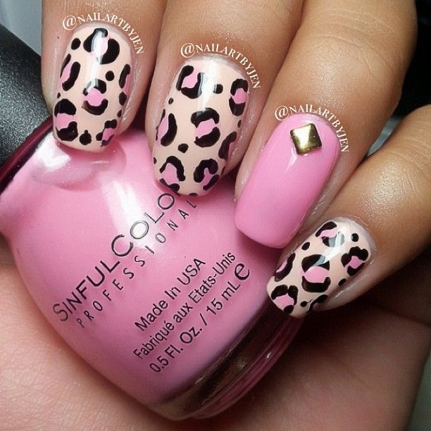 The 25 best pink leopard nails ideas on pinterest pink cheetah pink leopard nail art prinsesfo Choice Image