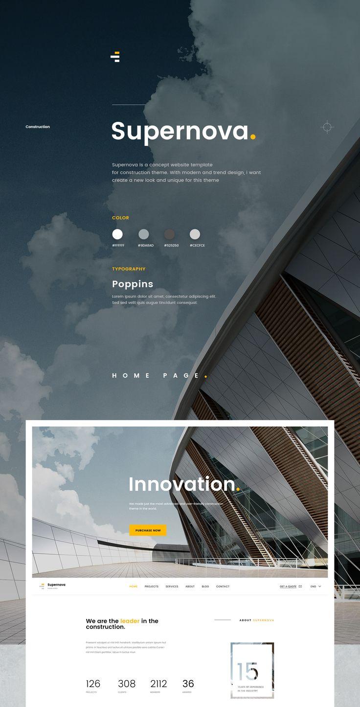Supernova - Construction Website on Behance