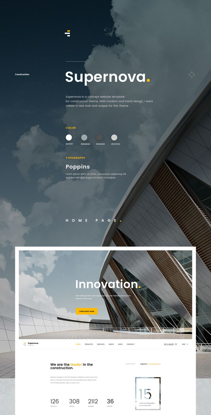 Supernova - Construction Website on Behance