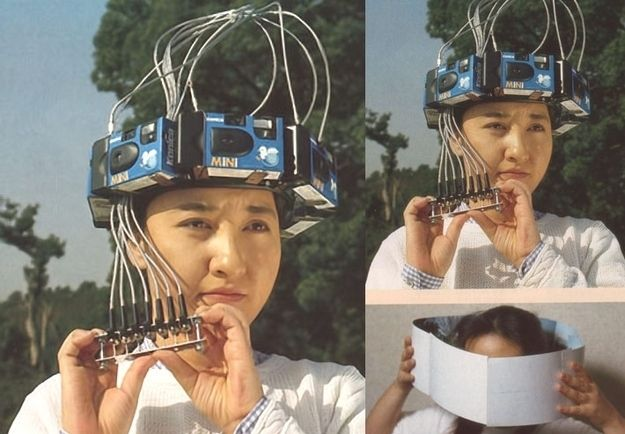 Pour bricoler des panoramas ou prendre discrètement des photos des gens derrière vous :   18 inventions japonaises complètement inutiles