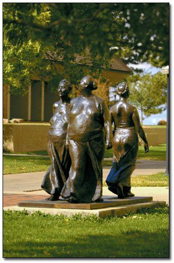 Francisco Zuniga ( 1912  –  1998) was a Costa Rican-born Mexican artist | Three Women Walking by Francisco Zuniga.