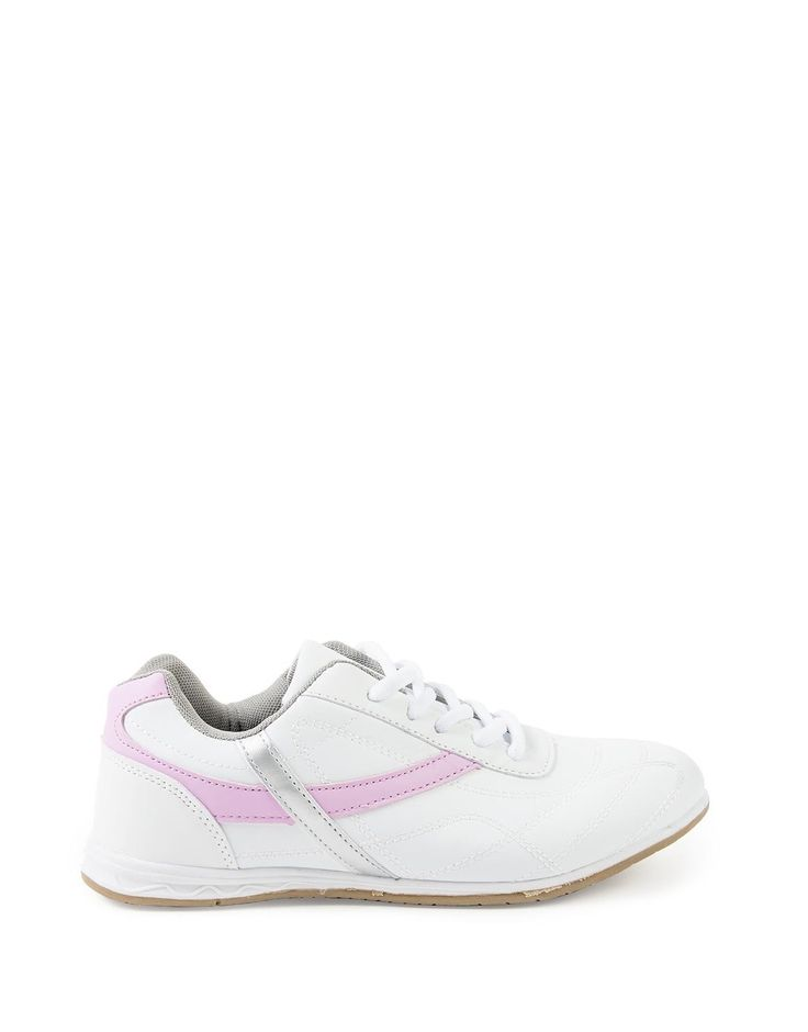 Striped Lace-Up Trainers