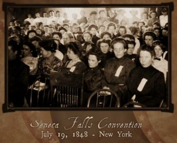 The Seneca Falls Convention was the first women's rights convention in American history. In July of 1848, hundreds of women gathered in Seneca Falls, NY to kick off the convention, which eventually led to the Suffrage Movement. It began, with Elizabeth Cady Stanton reading through the Declaration of Sentiments for all the attendees to deliberate.