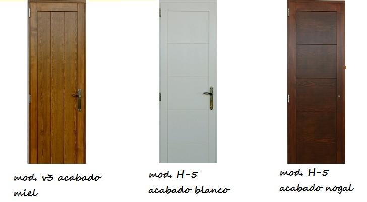Puertas de interior en madera maciza las puertas for Puertas estilo moderno