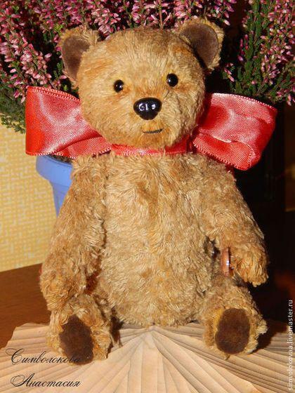 Медовый мишка. - бежевый,символокова,подарок,тедди,мишка,опилки,с лентой
