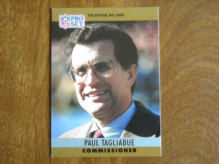 Paul Tagliabue NFL Commissioner Card No. 2 (FB2) 1990 NFL Pro Set Football Card - for sale at Wenzel Thrifty Nickel ecrater store