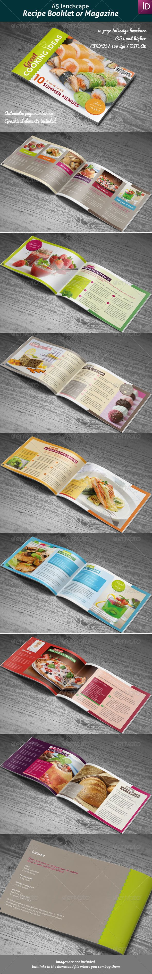 Recipes Booklet or Magazine  #food #indesign #kitchen • Available here → http://graphicriver.net/item/recipes-booklet-or-magazine/4191377?s_rank=234&ref=pxcr