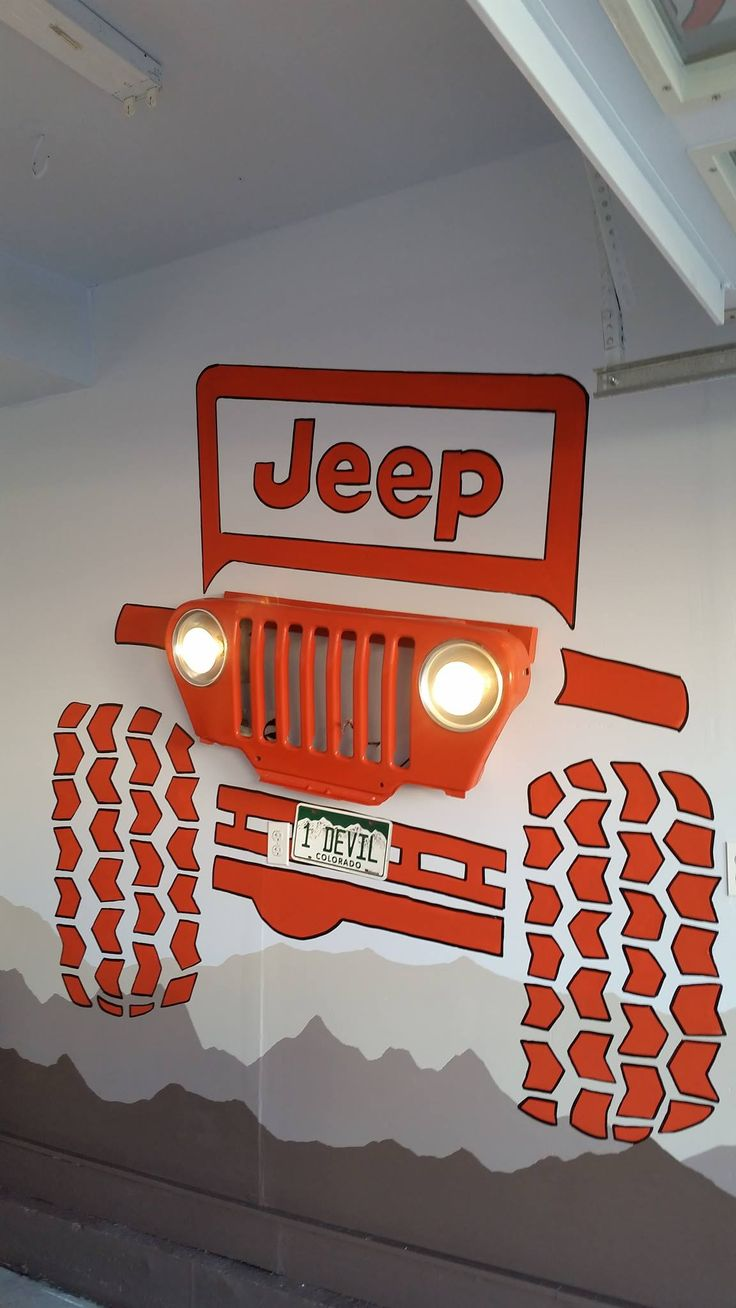 My hand painted Jeep wall art
