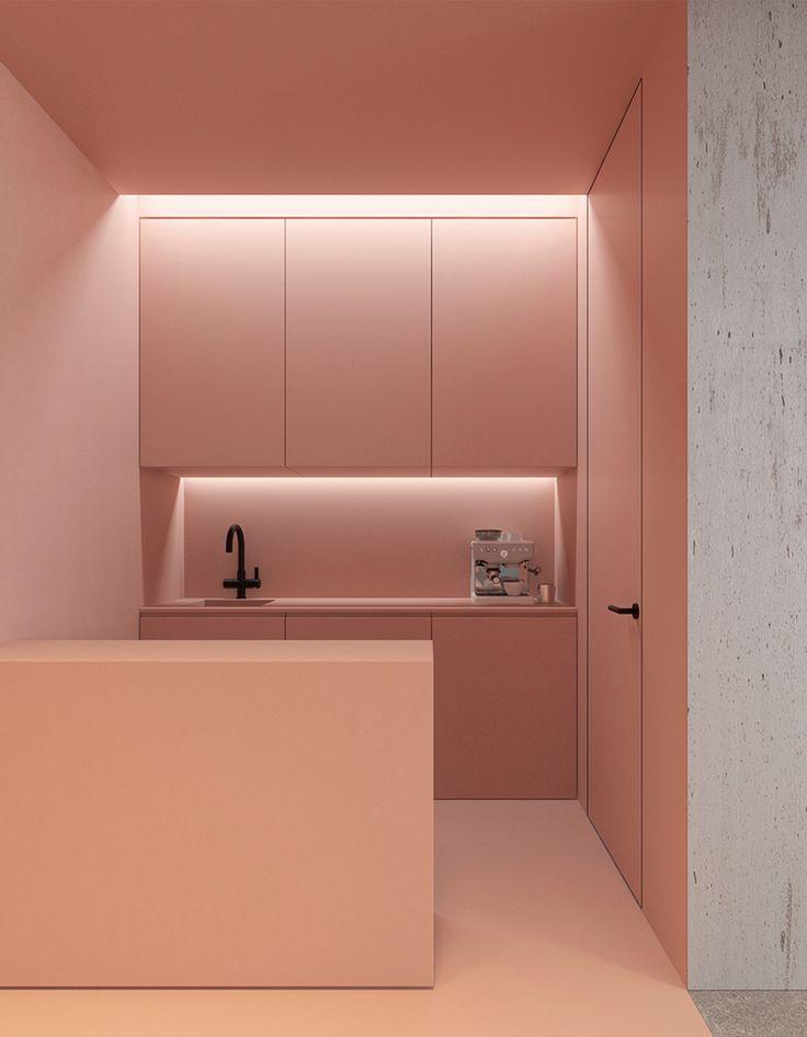 Un plafond de la même couleur que les murs, le sol et les meubles pour un effet bloc - Un plafond en couleur pour un intérieur singulier - Elle Décoration