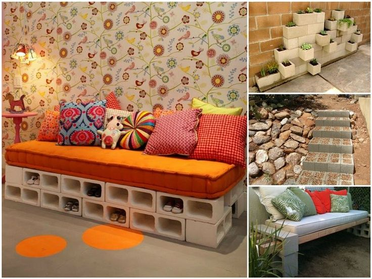 20+ Creative Uses of Concrete Blocks in Your Home and Garden       #tutorial, #outdoor design      Follow us on Facebook ==> https://www.facebook.com/FabArtDIY
