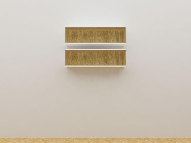 Minimalist modern furniture - Rak Sepatu Gantung Kayu Minimalis - White Elegant Teak