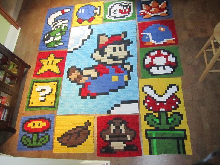 64 best Mario quilts images on Pinterest | Cross stitch patterns ... : mario quilt - Adamdwight.com