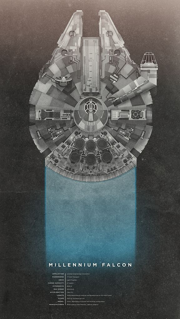 Millennium Falcon by Christopher Paul.  Part of weekly vector inspiration #77