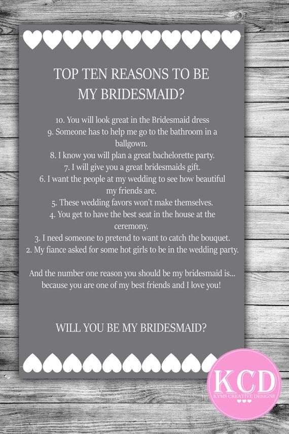 Will you Be My Brides Maid Card Bridesmaid by KymsCreativeDesigns