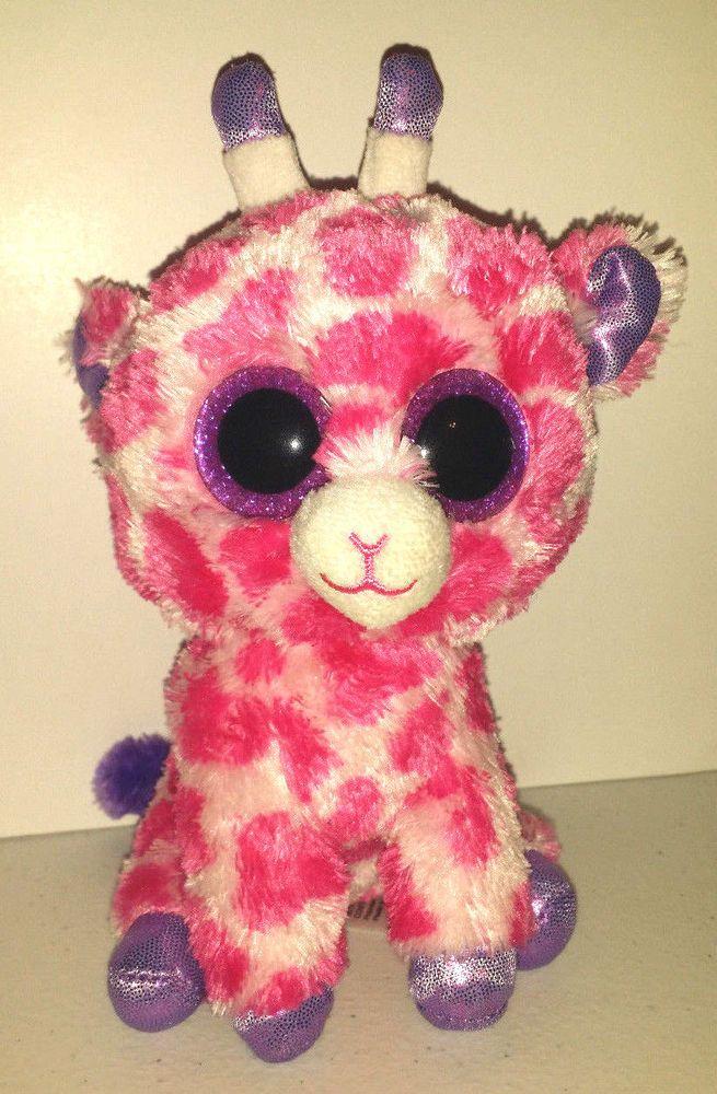 Ty Beanie Boos 2014 Twigs pink purple 7 inch stuffed animal plush toy no tags #Ty