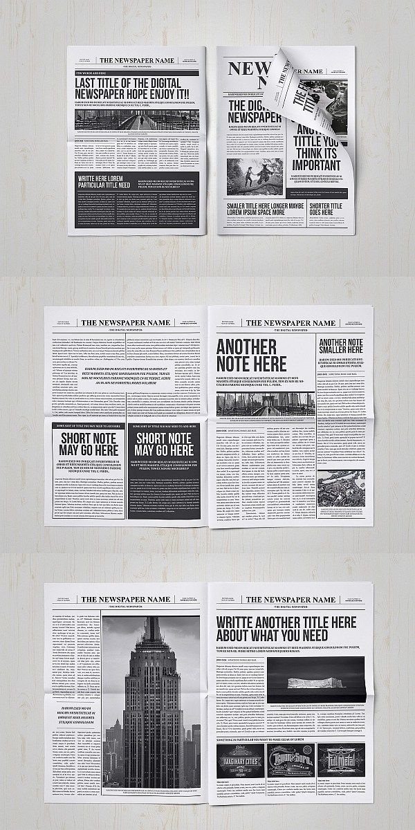 Newspaper Template For Adobe Indesign Cs6 Free Newspaper Template Sample Newspaper Templates Com