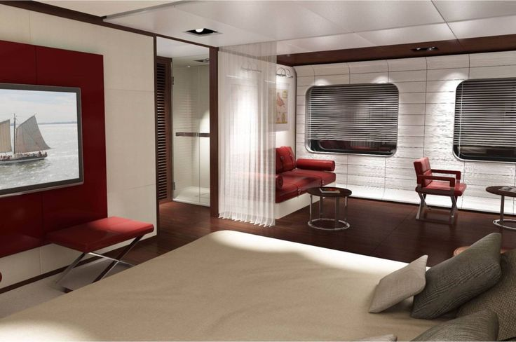 #Sanlorenzo 460Exp Owner's Cabin - The #460Exp is designed to give her owner a real taste of #adventure: the exploration of distant and exotic #destinations, with the safety and comfort associated with a #superyacht, combining the experience, #craftsmanship, and #innovation for which Sanlorenzo is famous. #Sanlorenzo460Exp #Madetomeasure #Custommade #Luxury