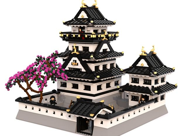jjukjang rendered a pretty cool castle for submission on LEGO Ideas. Since joining the site he has produced several castles, with the Osaka Castle gaining over