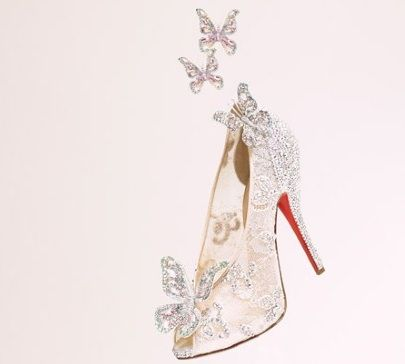 This is what Christian Louboutin's 'Cinderella Slippers' look like: Louboutincinderella, Louboutin Cinderella, Butterflies, Wedding Shoes, Dreams, Cinderella Shoes, Glasses Slippers, Christian Louboutin, Christianlouboutin