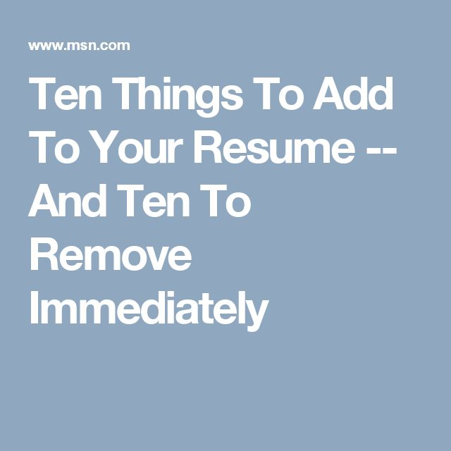 107 best Work - Job Hunt images on Pinterest Job interviews - things to add to your resume