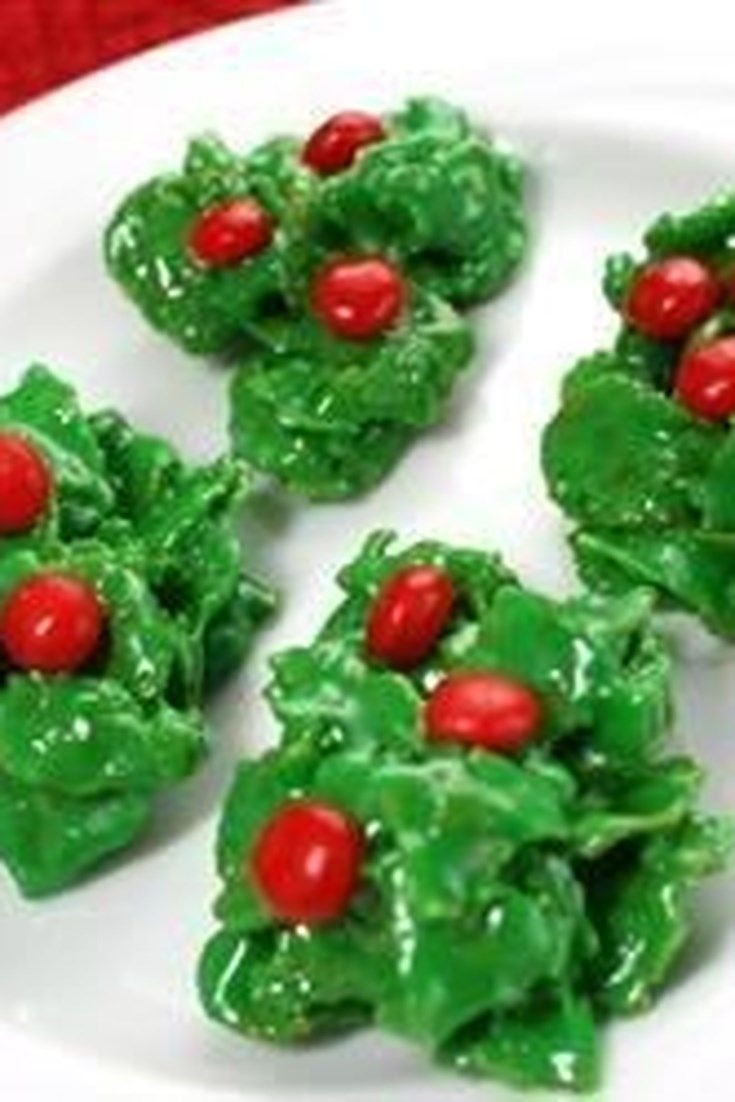 Christmas Cornflake Wreath Cookies These Cookies Look Like Little