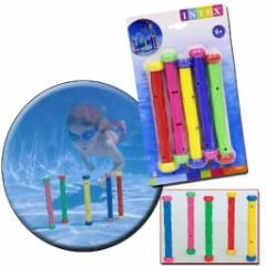 Kit 4 Bastões Color Para Brincadeira De Mergulho Na Piscina