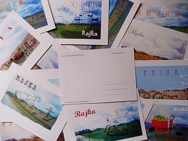 Rajka Park postcards made by amazing students from Békefi Ernő Általános School