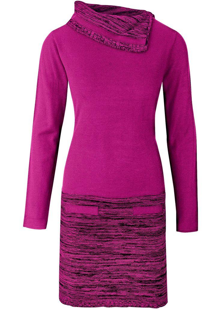 Gebreide jurk, BODYFLIRT boutique, magenta