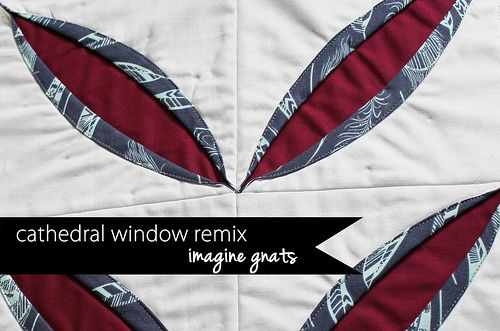 cathedral windows QAL: a quilt block remix tutorial || imagine gnats