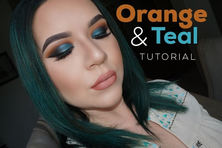 Orange and Teal Eyes Makeup Tutorial | KatEyedTv