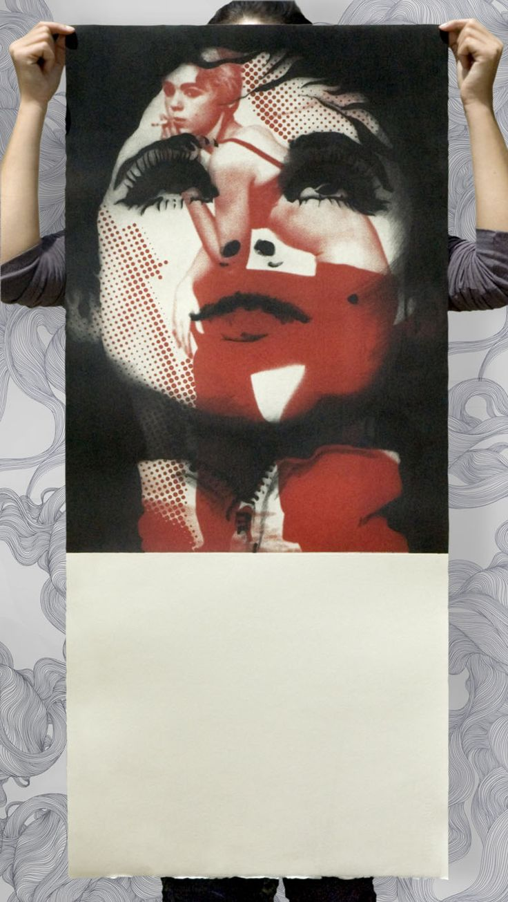 Edie Sedgwick drypoint and lithography on aluminium