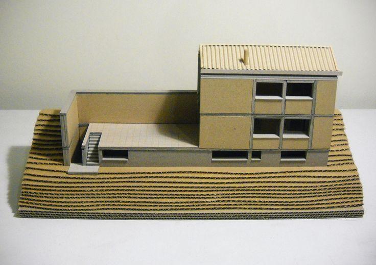 Small Weekend House 110 sqm in Polydrosos, Fokida, Greece, Architectural Model - www.pzarch.gr