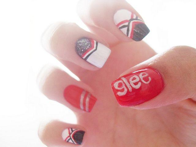 glee - Cheerios - nail art - líder de torcida